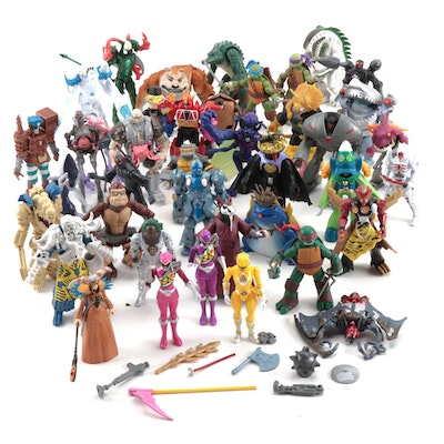 Playmates and Other Loose Toy Action Figures, Ninja Turtles, Power Rangers, More