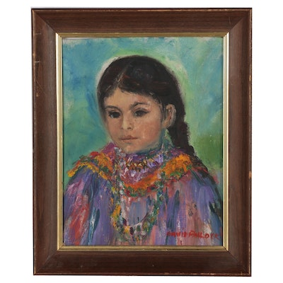 David Pallock Oil Painting Portrait of a Girl