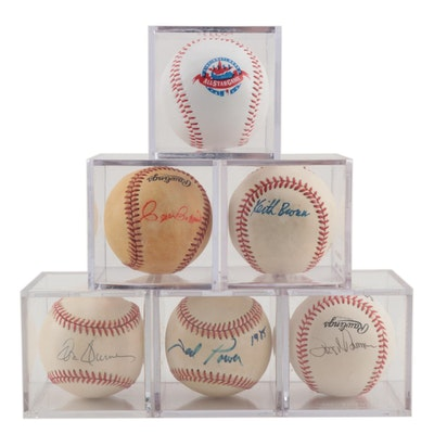 Former Cincinnati Reds Signed Baseballs with a 1988 All-Star Baseball  COA