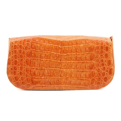 Nancy Gonzalez Caiman Skin Clutch