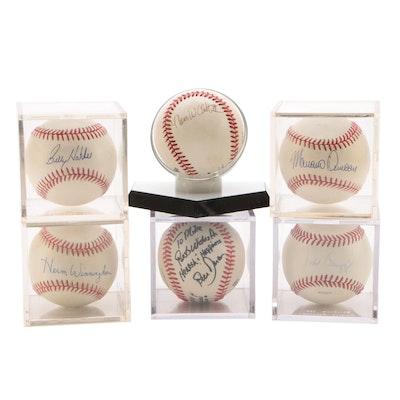 1990 Cincinnati Reds Players Signed Baseballs    COA