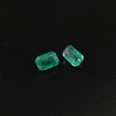 Loose 1.97 CTW Emerald Gemstones