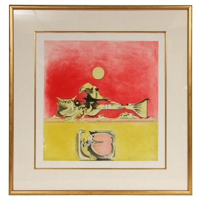 Graham Sutherland Etching with Aquatint in Colors, 1974