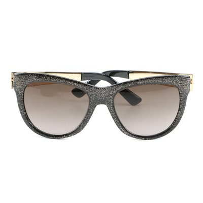 Gucci GG 3739/N/S Glitter Cat-Eye Sunglasses with Louis Vuitton Case