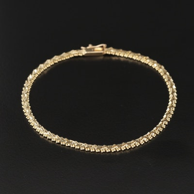 14K Yellow Gold Riccio Link Bracelet