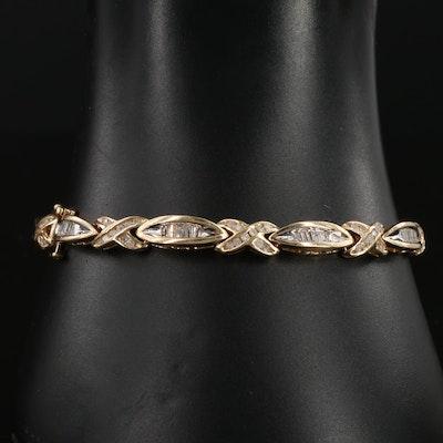 14K Yellow Gold 2.00 CTW Diamond Bracelet