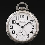 Hamilton Railway Special Stainless Steel Pocket Watch