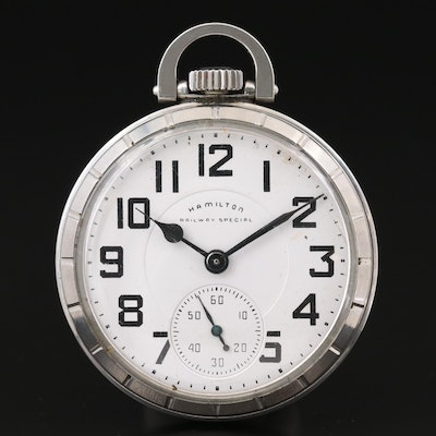 Hamilton Railway Special Stainless Steel Pocket Watch