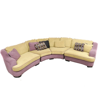 Carson's Half Circle Sectional Sofa with Throw Pillows