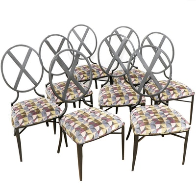 Kessler Industries Inc. Modernist Cast Metal Dining Chairs
