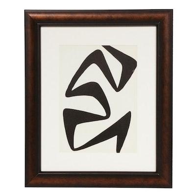"""Alexander Calder Lithograph for """"Derrière le Miroir,"""" 1968"""