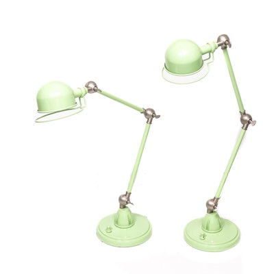 "PB Teen ""Hi-Lite"" Task Lamps in Green, Contemporary"