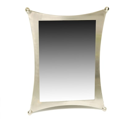 Modernist Metal Wall Mirror, Contemporary