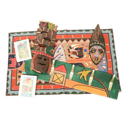 Tribal Inspired Masks and Other Travel Collectibles