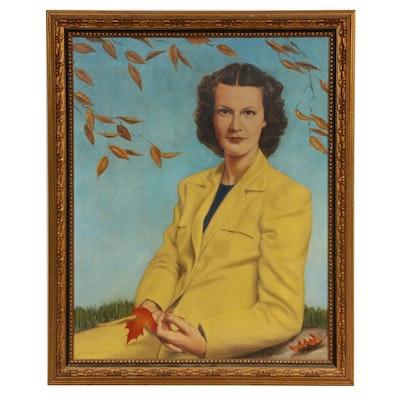Jim Miner Portrait Oil Painting, 1942