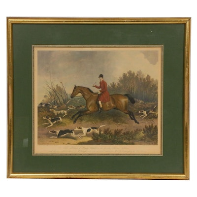 Fox Hunting Scene Halftone After R. B. Davis, Mid to Late 19th Century