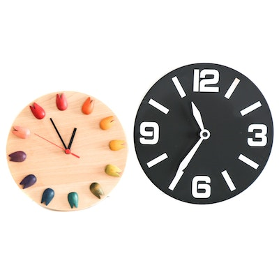 Modernist Style Wall Clocks, Contemporary