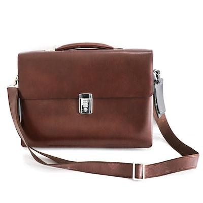 Kliya Wanblong Brown Leather Briefcase