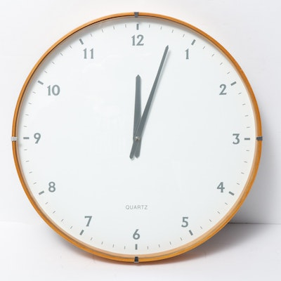 Modern Round Wall Clock, Contemporary