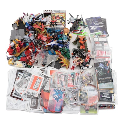 Hasbro Transformers Action Figures, Booklets, and Trading Cards