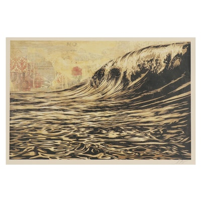 """Shepard Fairey Offset Print """"Dark Wave"""", 2018"""
