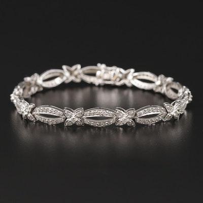 18K White Gold 2.10 CTW Diamond Bracelet