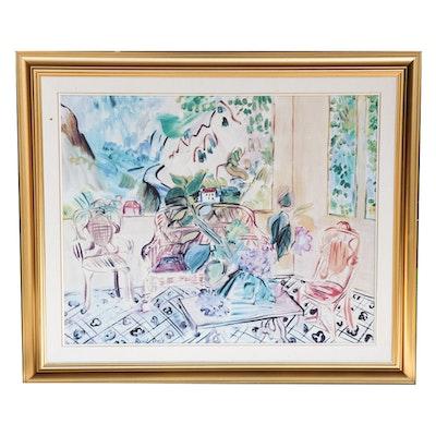 "Offset Lithograph Print after Raoul Dufy ""Vernet-les-Bains"""