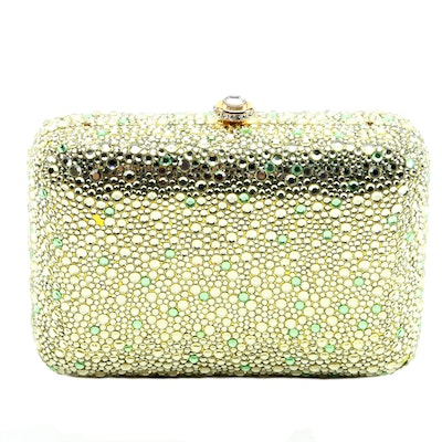 Kathrine Baumann Design of Beverly Hills Crystal Clutch Purse with Compact