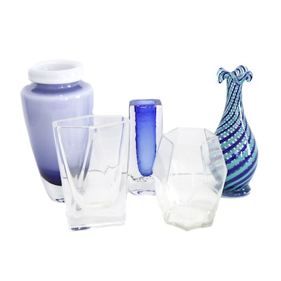 Kosta Boda and Other Art Glass Vases, Contemporary