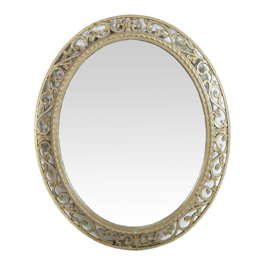 Syroco Oval Wall Mirror, Late 20th Century