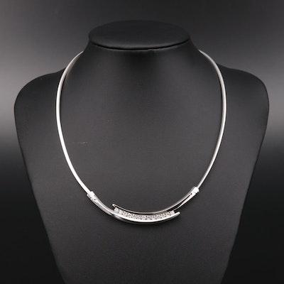 14K White Gold 1.45 CTW Diamond Necklace