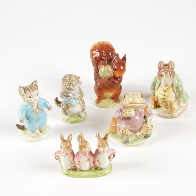"""Beswick Beatrix Potter's """"Peter Rabbit"""" Porcelain Figurines, Mid to Late 20th C."""