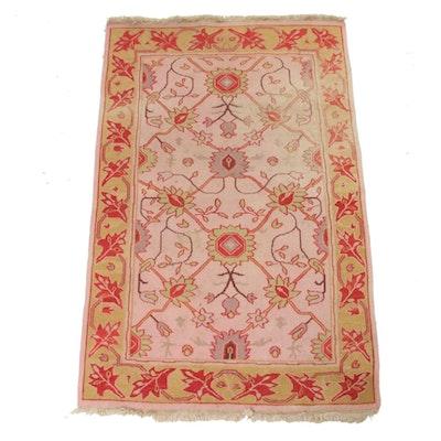 3'7 x 5'10 Handwoven Sino-Caucasian Soumak Chain-Stitched Rug