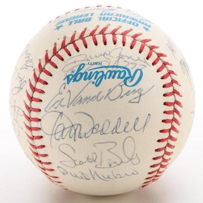1987 Cleveland Indians Signed American League Baseball  COA