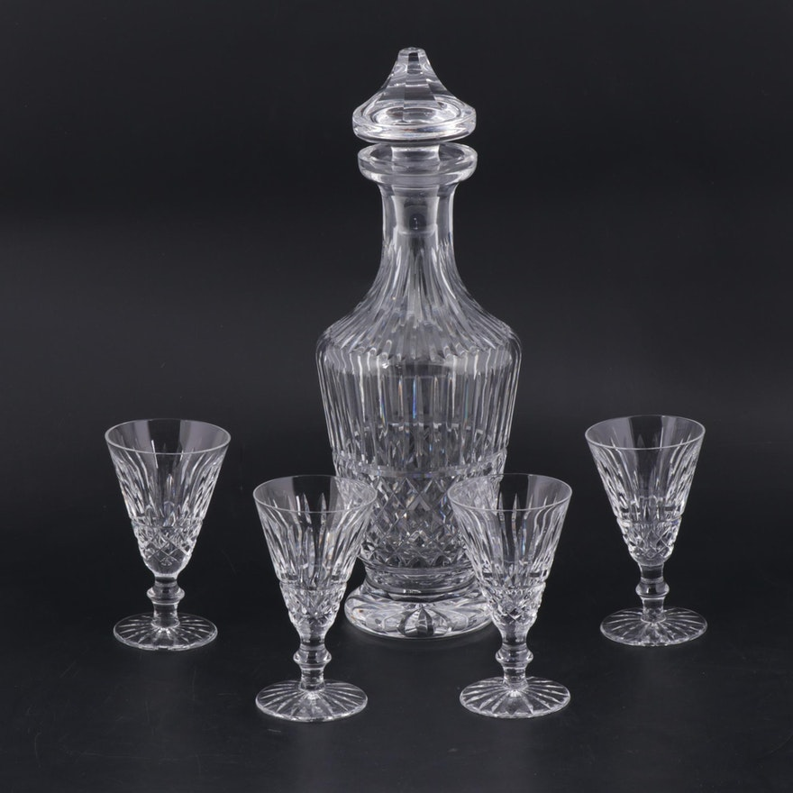 "Waterford Crystal ""Maeve"" Decanter and Cordial Glasses"