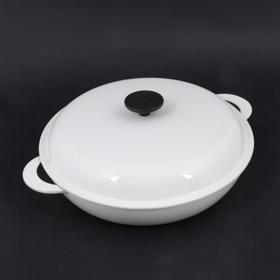 Le Creuset White Enameled Cast Iron Braiser