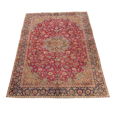 8'3 x 12'6 Hand-Knotted Persian Isfahan Najafabad Wool Rug