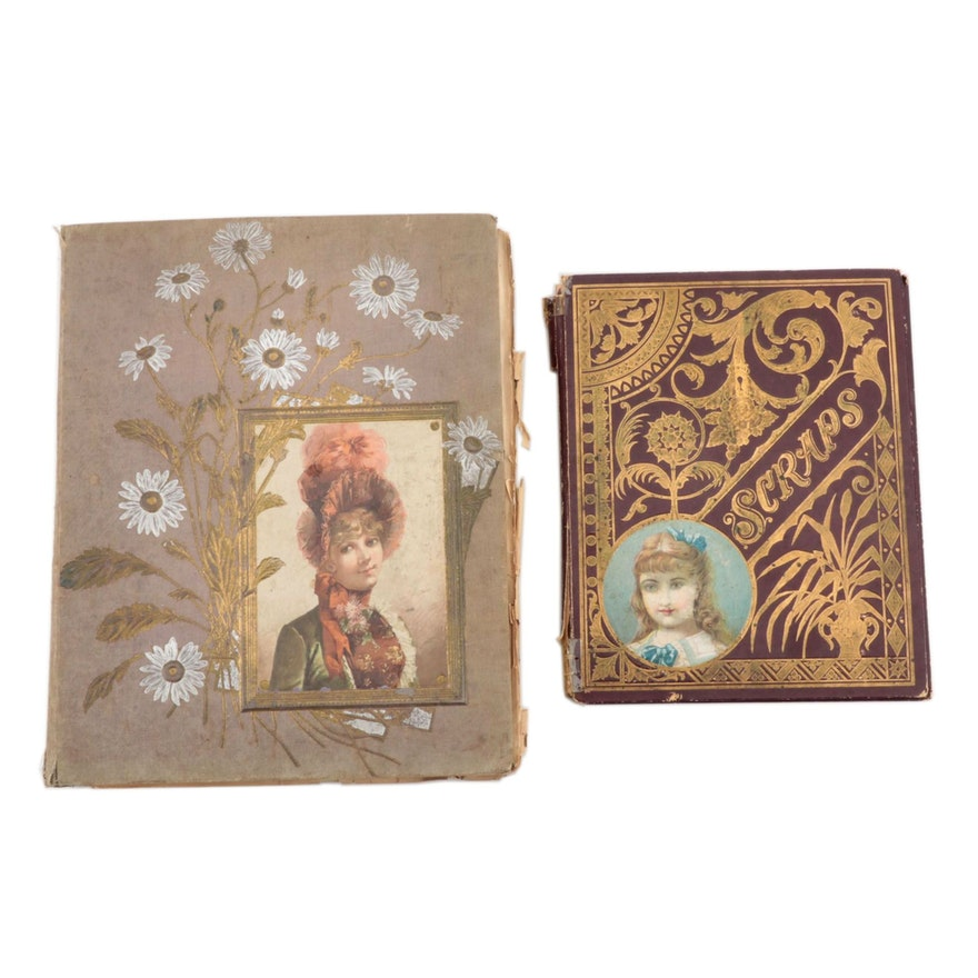 Victorian Scrapbooks With Trade Cards, Cut-Outs, and More, Late 19th Century