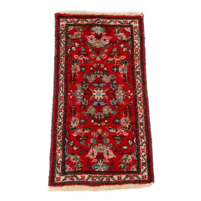 1'10 x 3'6 Hand-Knotted Persian Kirman Rug