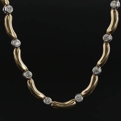 14K Yellow Gold 1.00 CTW Diamond Necklace
