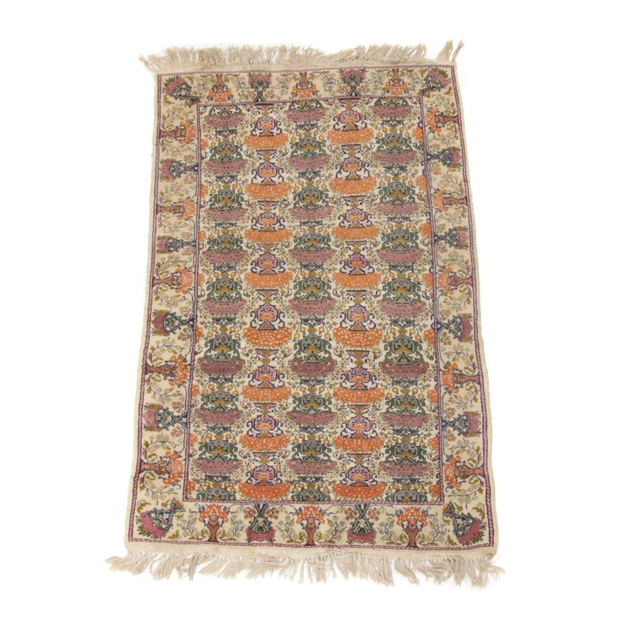 3'2 x 5'3 Hand-Knotted Indo-Persian Tabriz Rug
