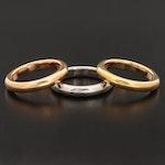 Milor 14K Tri-Color Gold Stacking Bands