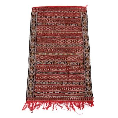 2'10 x 5'3 Handwoven Caucasian Soumak Rug