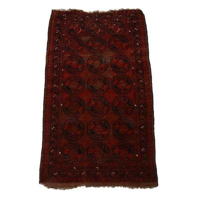 2'10 x 5'2 Hand-Knotted Afghani Turkoman Rug