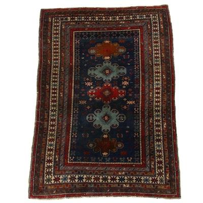 3'3 x 4'10 Hand-Knotted Caucasian Kazak Rug, 1940s