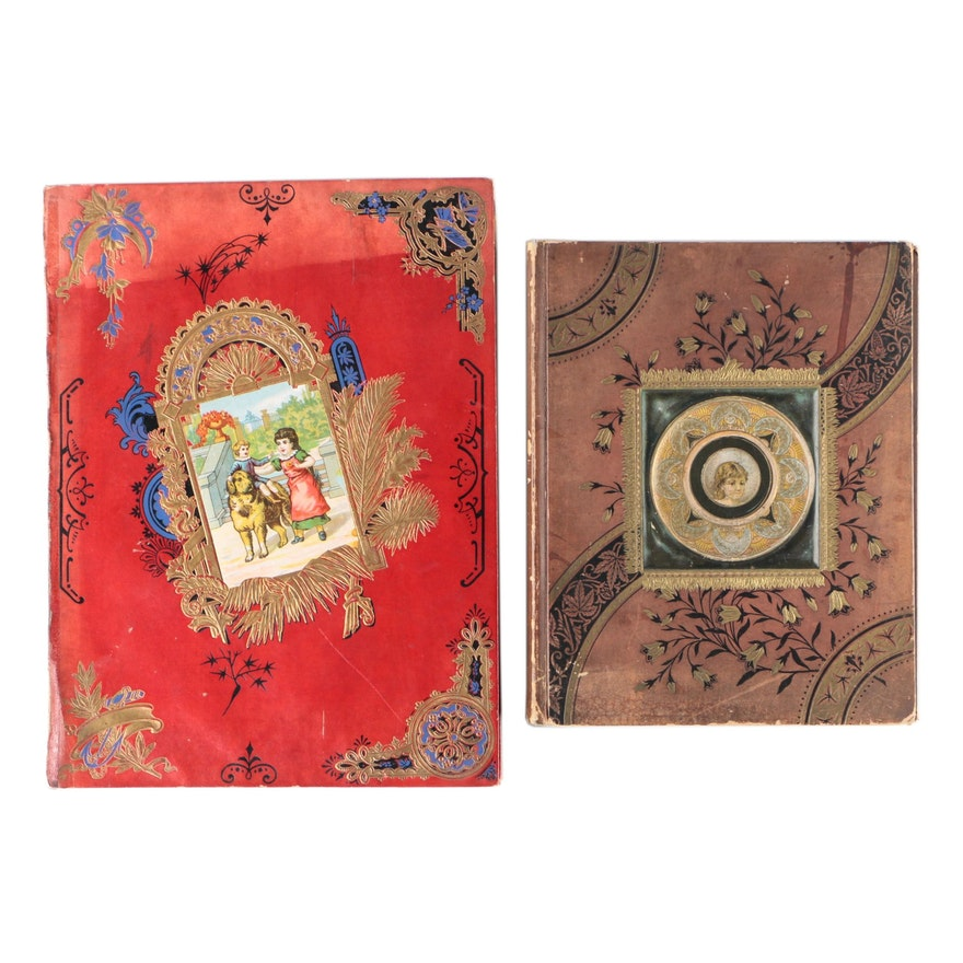 Victorian Scrapbooks With Trade Cards, Die-Cuts, and More, Late 19th Century