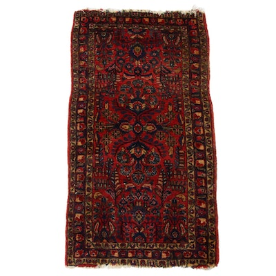 2'1 x 4' Hand-Knotted Persian Kirman Rug