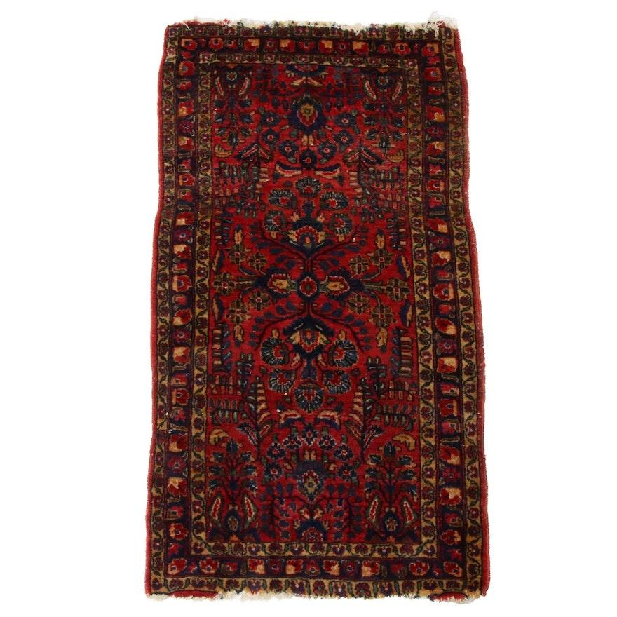 2'1 x 4' Hand-Knotted Persian Kirman Rug
