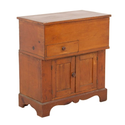 American Primitive Lift-Top Dry Sink, Late 19th Century
