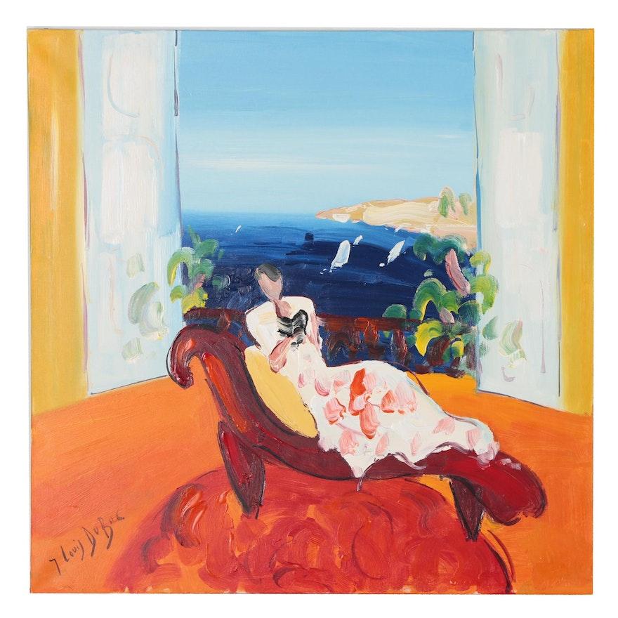 "Jean-Louis DuBuc Oil Painting ""Beau Azur"""